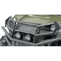 Protecting the front of your Polaris Sportsman 570 and 450 ATV is easy with the Polaris Front Brushguard. Finished in gloss black, this brushguard is made from sturdy steel to withstand rocks, branches and those occasional encounters.