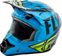 DESCRIPTIONThe Kinetics list of features is impressive. FLYs entry level helmet features bold original artwork on the exterior that compliments this helmets generous ventilation, plush interior, and dual density EPS liner.STANDARD:DOT APPROVED