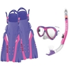 Body Glove Womens Aruba Mask, Snorkel, And Fins Combo Set