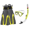 Azores Mask, Snorkel and Fins Combo Set By Body Glove