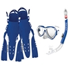 Aruba Womens  Mask, Snorkel, and Fins Combo Set By Body Glove