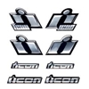 ICON MOTORSPORTS CHROME DECALS