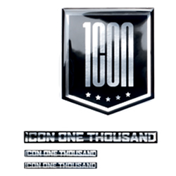 ICON 1000 CHROME STICKER SHEET