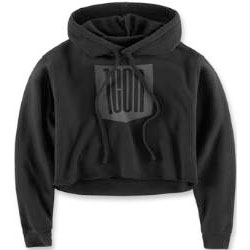 ICON 1000 STACKER CROP WOMENS HOODY