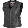 Womens Plains Leather Vest
