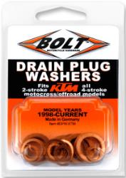 BOLT COPPER DRAIN PLUG WASHER SET