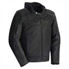 TOURMASTER BLACKTOP MENS LEATHER JACKET WITH HOOD