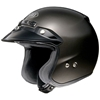 SHOEI RJ PLATINUM-R METALLIC SOLID COLOR OPEN-FACE HELMET