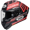SHOEI X-FOURTEEN MARQUEZ BLACK CONCEPT MATTE FULL-FACE HELMET