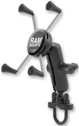 RAM MOUNTS RAM HANDLEBAR RAIL MOUNT WITH U-BOLT BASE AND UNIVERSAL X-GRIP FOR LARGE PHONE / PHABLET CRADLE