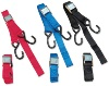 PARTS UNLIMITED 1 1/2 INCH HEAVY DUTY CAM BUCKLE TIE DOWNS WITH BUILT IN ASSIST