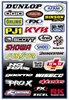 FACTORY EFFEX SPONSOR STICKER KITS