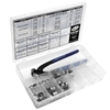 MOTION PRO 80 PIECE STEPLESS CLAMP FUEL LINE FITTINGS KIT WITH PINCER TOOL