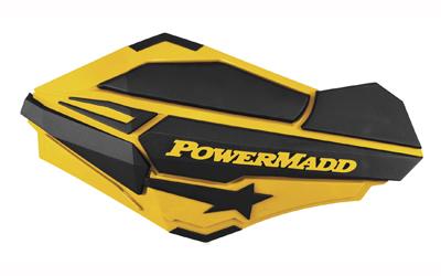 Powermadd Sentinel Handguards Guards Tri Mount Ski Yellow Black ATV Honda