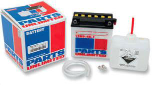 PARTS UNLIMITED 12V CONVENTIONAL BATTERY KITS
