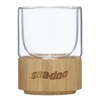 Double Wall Glass Cup With Bamboo Bottom