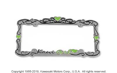 KAWI GIRL AUTO LICENSE PLATE FRAME