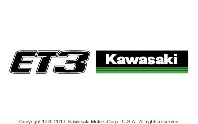 ET3 / KAWASAKI 3 GREEN LINES SIDE BY SIDE LOGO STICKER