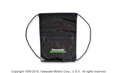 KAWASAKI 3 GREEN LINES DRAWSTRING POCKET BAG