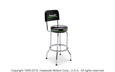 KAWASAKI 3 GREEN LINES BARSTOOL WITH BACKREST