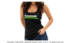 3 Green Lines Womens Tank Top