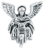 ALL AMERICAN LEATHERS GUARDIAN ANGEL PIN TO RIDE WITH YOU