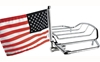 PRO PAD INC AIR WING RACK MOUNT WITH USA FLAG