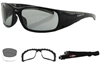 BOBSTER GUNNER PHOTOCHROMIC CONVERTIBLE GOGGLES SUNGLASSES