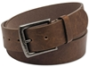 WESTSIDE ACCESSORIES BROWN BELT WITH ANTIQUE NICKEL BUCKLE