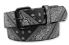 WESTSIDE ACCESSORIES BLACK BANDANA BELT