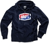 100% MENS OFFICIAL ZIP HOODY