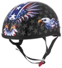SKID LID ORIGINAL LETHAL THREAT USA FLAME EAGLE HELMET