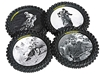 SMOOTH INDUSTRIES DUNLOP LEGENDS SERIES KNOBBY TIRE DRINK COASTERS