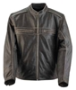 BLACK BRAND MENS TWO LANE LEATHER JACKET