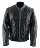 BLACK BRAND MENS CUTTHROAT AND CUTTHROAT STEALTH LEATHER JACKET