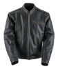 BLACK BRAND MENS COMPRESSION LEATHER JACKET