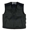 BLACK BRAND MENS GUARDIAN LEATHER VEST