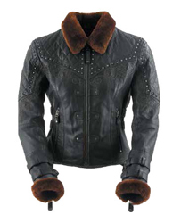BLACK BRAND WOMENS SHEARED BEAVER JACKET