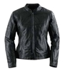 BLACK BRAND WOMENS ETERNITY KOOLTEK LEATHER JACKET