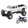 NEW RAY TOYS 1:32 SCALE TRUCK AND BIKE SET