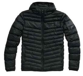 100% DELTA 1 PUFFER HOODED ZIP JACKET