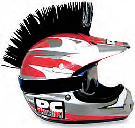 PC RACING HELMET MOHAWKS AND BLADES