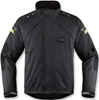 ICON MENS RAIDEN DKR MONOCHROMATIC WATERPROOF JACKET