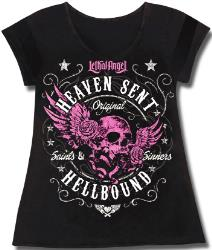 LETHAL THREAT WOMENS HEAVEN SENT V-NECK SHIRT