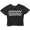 THOR WOMENS CHECK UP CROP TOP