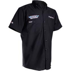 THROTTLE THREADS MENS DRAG SPECIALTIES SHORT-SLEEVE SHOP SHIRT