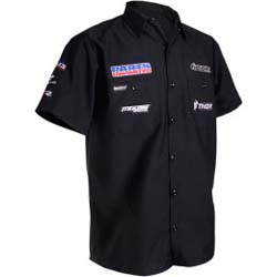 THROTTLE THREADS MENS PARTS UNLIMITED SHORT-SLEEVE SHOP SHIRT