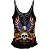 LETHAL THREAT WOMENS LETHAL ANGEL BORN FREE LACE-UP TANK TOP