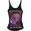 LETHAL THREAT WOMENS LETHAL ANGEL BROKEN ARROW LACE-UP TANK TOP