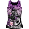 LETHAL THREAT WOMENS LETHAL ANGEL FLOWER MOTORCYCLE RAZOR BACK TANK TOPS